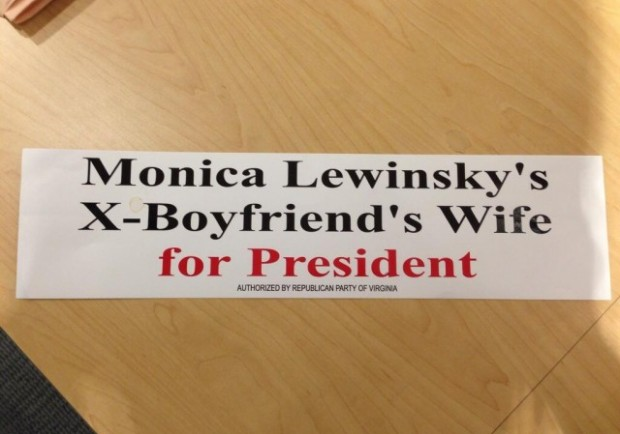Bumper-Sticker-Monica-Lewinskys-Boyfriends-Wife-for-President-e1405192290459-620x434